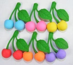 Iwako by Themes: Fruits - Cherry in 6 Colours Erasers