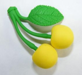 Iwako Fruits: Yellow Cherry Eraser