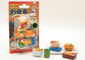 Iwako Erasers Blister Pack Japanese Foods set