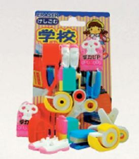 Iwako Erasers Blister Pack School Supplies and Stationeries (red) set