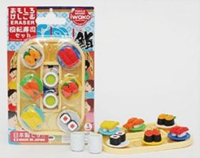 Iwako Conveyor Belt Sushi & Green Tea Set from Japan