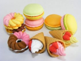 Iwako by Themes: 10 Types French Pastry Japanese Erasers