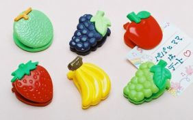 Iwako by Theme Kawaii Fruit Paper Clips (6 pieces) from Japan