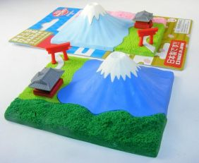 Iwako Fuji Mountain and Shrine in Summer  (Green) Japanese Erasers set from Japan