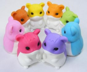 Iwako by Themes: Original Hamsters Japanese Erasers