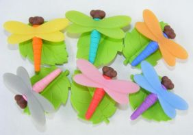 Iwako by Themes: Insect World 6 colours Dragonfly Japanese Erasers