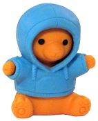 Iwako  Blue Parka Teddy Bear Japanese Eraser