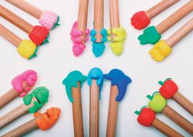 Iwako by Themes: 6 sets of Fruits & Animals Pencil Top Grip Erasers