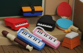 Iwako School Sport Music Instruments Japanese Erasers (6 pieces only - Random mixes) from Japan