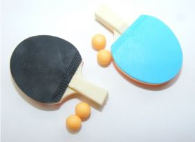 Iwako 2 Sets of Table Tennis Bat and Ball set Japanese Eraser from Japan