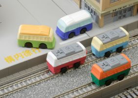 Iwako by Themes: Trains & Bus Erasers