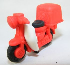 Iwako Red Delivery Scooter Motorbike Japanese Eraser