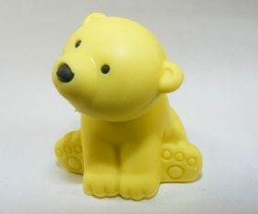 Iwako Wild Animals: Yellow Polar Bear Eraser