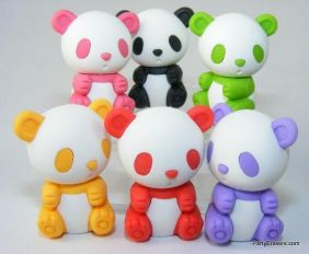 Iwako by Themes: Zoo Animals - Panda in 6 Colours Erasers