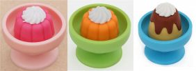 Iwako 3 pieces Jelly Pudding in Bowl Japanese Puzzle Eraser from Japan