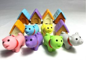 Iwako By Themes: 6 Set of New Cute Puppy Dog House Japanese Erasers