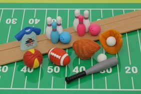 iwako 8 pieces active sports japanese Puzzle erasers from Japan