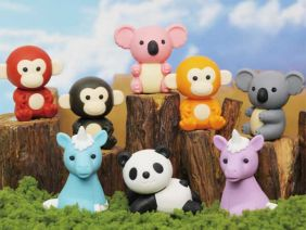 iwako 8 pieces jungle animal japanese Puzzle erasers from Japan