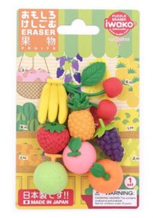 Iwako Erasers Blister Pack Japanese Fresh Fruits set