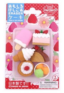 Iwako Erasers Blister Pack Desserts Ice Cream set