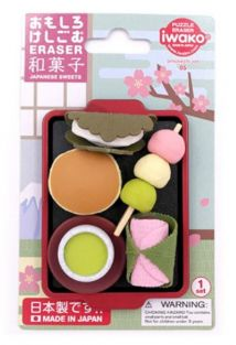 Iwako Erasers Blister Pack Japanese Sweets set
