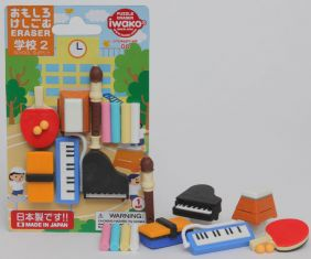 Iwako Novelty Japanese puzzle Erasers set - School 2 Sport Music Instruments