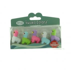 Iwako Colorz Mountain Ilama Japanese Puzzle Eraser Set