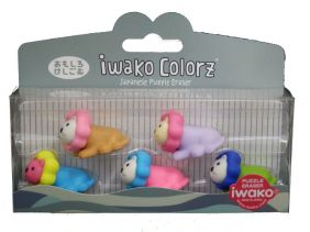 Iwako Colorz Safari Lion Japanese Puzzle Eraser Set