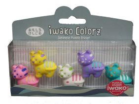 Iwako Colorz Safari Tiger Japanese Puzzle Eraser Set