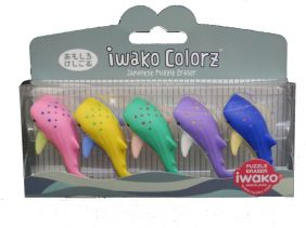 Iwako Colorz Seaworld Whale Shark Japanese Puzzle Eraser Set