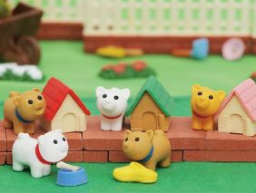 Iwako By Themes: 5 Set of Cute Puppy Dog House Japanese Erasers