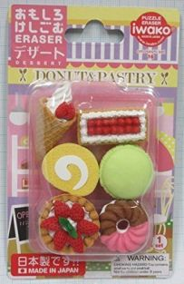 Iwako Erasers Blister Pack French Pastry set