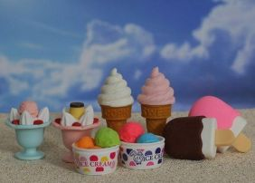 Iwako by Themes: 8 pieces Ice Cream Mix Japanese Erasers