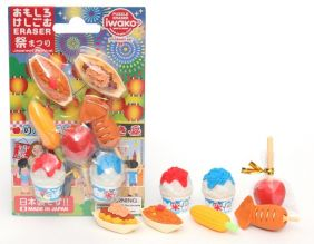 Iwako Japanese Festival Snack Foods Erasers Set from Japan