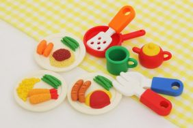 Iwako lunch plates and Cutlery set Japanese Erasers from Japan