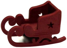 Iwako Brown Santa Claus Sleigh Japanese Eraser from Japan