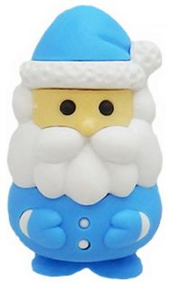 Iwako Blue Santa Claus Japanese Eraser from Japan