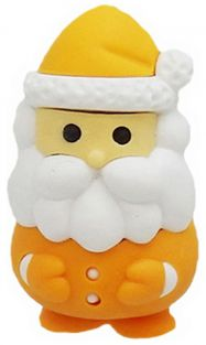Iwako Orange Santa Claus Japanese Eraser from Japan