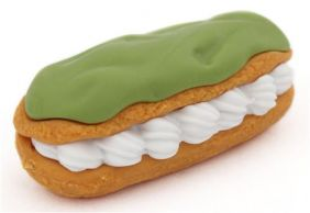 Iwako Snack Green Tea Eclair with Cream Japanese Eraser from Japan