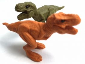 Iwako 2 T-REX Dinosaur Erasers from Japan