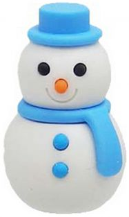 Iwako Blue Scarf Winter Snowman Japanese Eraser from Japan
