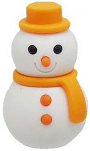 Iwako Orange Scarf Winter Snowman Japanese Eraser from Japan