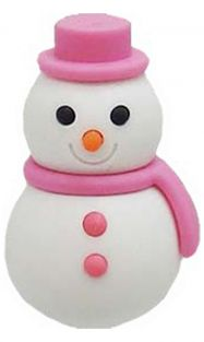 Iwako Pink Scarf Winter Snowman Japanese Eraser from Japan