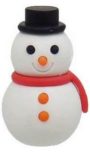 Iwako Red Scarf Winter Snowman Japanese Eraser from Japan