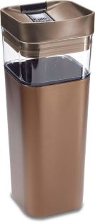 Kafe in The Box, Splashproof and Ecofriendly Reusable Coffee Mug/Travel Mug by Precidio Design - 16 oz, Bronze