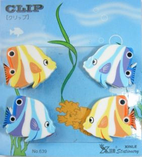 Kawaii 6 pieces Animal Shape Small Clips - Fish