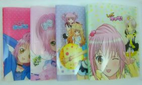 Kawaii Manga Girl 20 pockets Lightweight A4 Display Book File Folder (Pack of 4 pieces assorted designs)