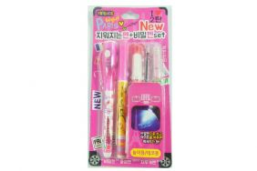 Kawaii Stationery Set - Invisible Pen with check light and Ink Pen Set - Pink