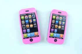 KawaiiErasers 2 pieces Pink Black iphone erasers