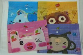 Love to Eat Press Stud Document Envelope Wallet (Pack of 4 pieces Assorted designs)